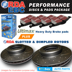 FRONT SET SLOTTED DISC BRAKE ROTORS & PADS BMW Z SERIES Z4 E89 2.5 LITRE 2008-ON