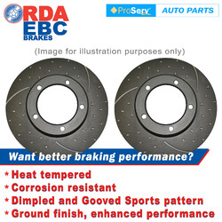 FRONT PAIR Dimp Slot DISC BRAKE ROTORS DAIMLER LIMOUSINE 1969-1979