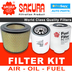 Oil Air Fuel Filter service kit Toyota Hilux/Surf  KZN130 (1KZTE) 1993-1997
