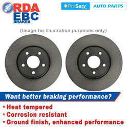FRONT PAIR DISC BRAKE ROTORS FORD FESTIVA WF 3 DOOR 11/1997-2001