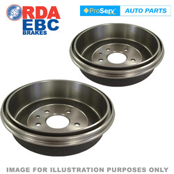 REAR PAIR BRAKE DRUMS FORD FESTIVA WA 10/1991 - 1994