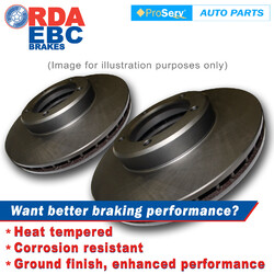 FRONT PAIR DISC BRAKE ROTORS PEUGEOT 505 1980-1992 VENTED ROTORS