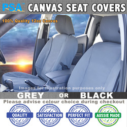 Canvas Seat Covers MAZDA (REAR BENCH ONLY) Bravo B2500 2600 1 Dual Cab, 1/99-11/02