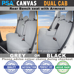 Canvas Seat Covers MITSUBISHI (REAR BENCH ONLY with armrest), Triton ML, 7/2006-7/2009