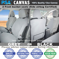 Canvas Seat Cover, Prado 150 GX GXL front bucket seats w/side airbags 10/09-