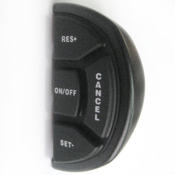 Cruise Control D-Shaped control switch - plastic case and rubber button pad only