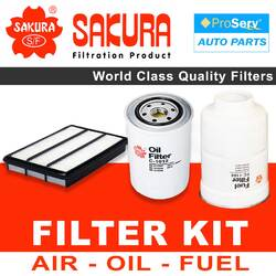 Oil Air Fuel Filter service kit for Mitsubishi Pajero NS 3.2L Diesel 4M41 Eng. 2009-2017