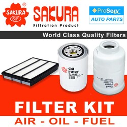 Oil Air Fuel Filter service kit for Mitsubishi Pajero NT 3.2L 2006-2017