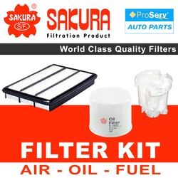 Oil Air Fuel Filter service kit for Mitsubishi Pajero NP 3.5L 2000-2004