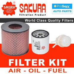 Oil Air Fuel Filter service kit for Toyota Hilux RN90 2.4L 22R 1993-1997