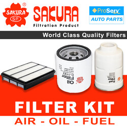 Oil Air Fuel Filter service kit for Toyota Prado KDJ150 3.0 1KGFTV Turbo Diesel 2009-2015