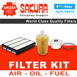 Oil Air Fuel Filter service kit for Toyota Landcruiser VDJ78 4.5 V8 (1VD-FTV) 2007-2017