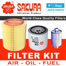 Oil Air Fuel Filter service kit for Land Rover Discovery Series 1 3.5L V8 1991-1993