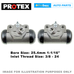 2x Rear wheel cylinders for Ford F350 4.1 litre 1970 -1989