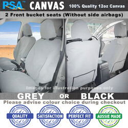 Canvas Seat Covers (2 Front Buckets) HOLDEN Rodeo RA6 3/2003 - 12/2006