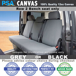 Canvas Seat Cover (REAR BENCH) FITS TOYOTA Hilux Workmate DualCab 7/2011-On