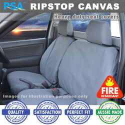 Ripstop Canvas Seat Covers TOYOTA, Landcruiser 79 Series Dual Cab Ute Set 3/2007+