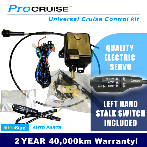 Universal Cruise Control Kit, electric servo(With LH Stalk control switch)AUTOMATIC