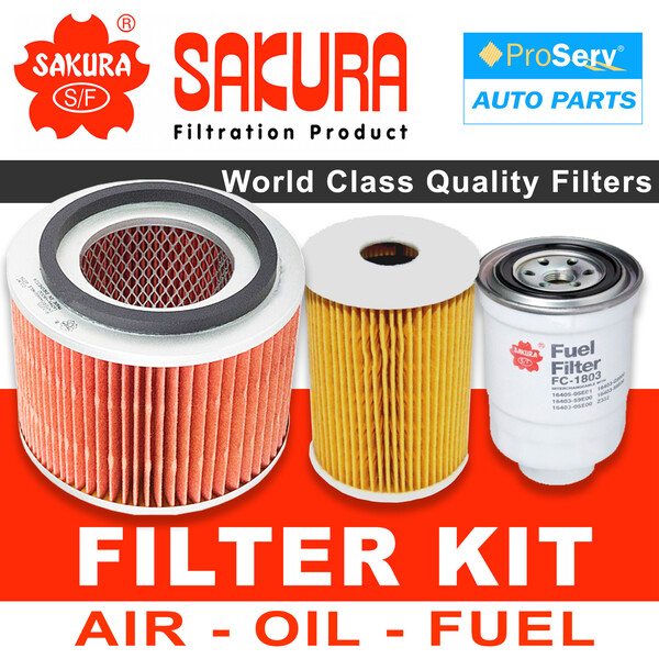 Oil Air Fuel Filter service kit for Nissan Patrol GU Y61 Series IV 3.0L ZD30D 2004-2007