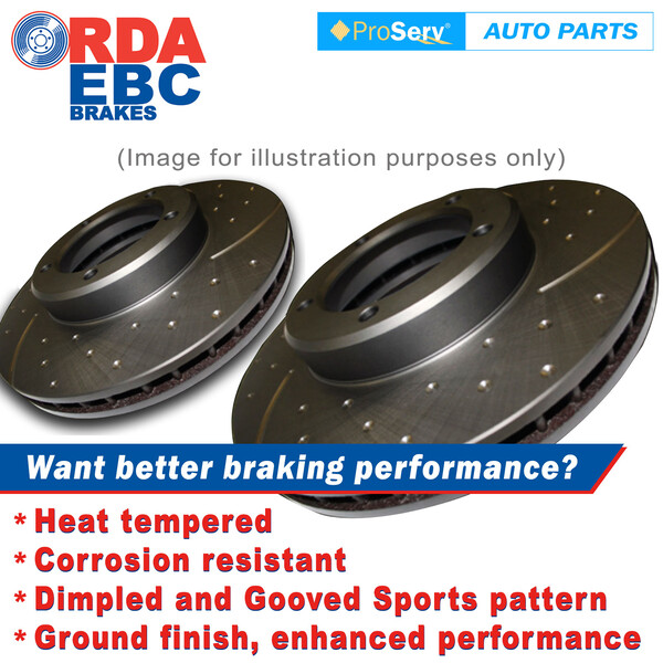 FRONT Dimp Slotted DISC BRAKE ROTORS HUMMER H3 3.5L 2006-ONWARDS