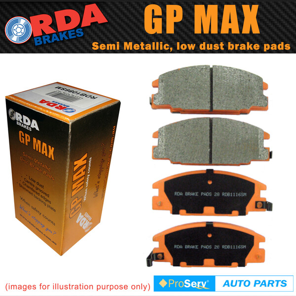 FRONT SET RDA DISC BRAKE PADS NISSAN PATROL GQ Y60 1988-1997 TYPE 2