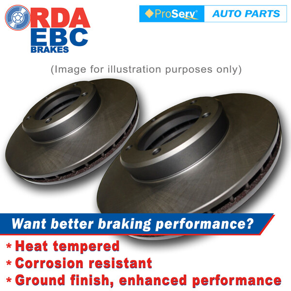 Front Disc Brake Rotors for Ssangyong Rexton RX270 RX320 5 Stud 2006-ON